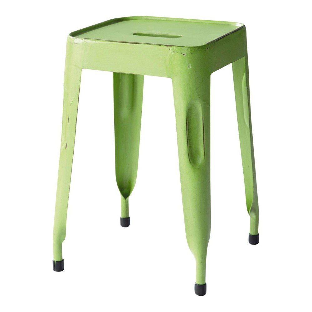 Sgabello industriale verde jim jim maisons du monde for Sgabello verde