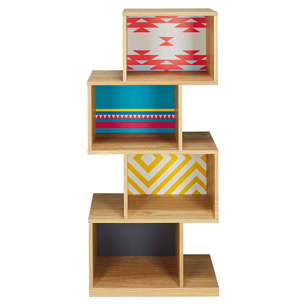shelf with coloured motifs cactus maisons du monde. Black Bedroom Furniture Sets. Home Design Ideas