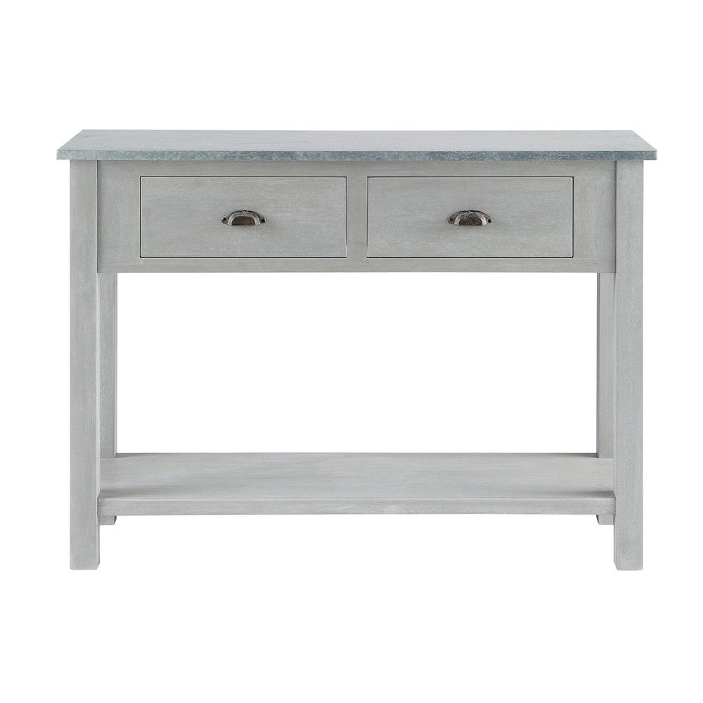 side table zinc zinc maisons du monde. Black Bedroom Furniture Sets. Home Design Ideas