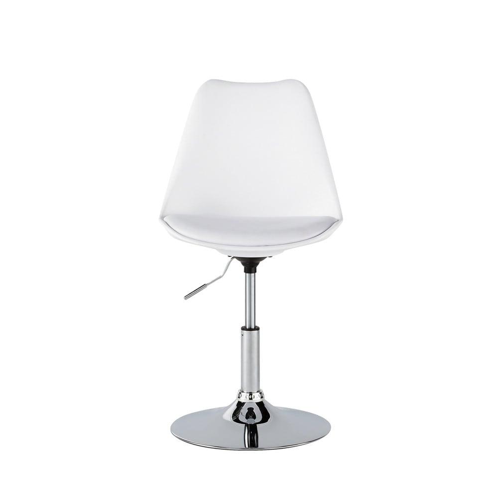 Silla ajustable de poliuretano y acero blanca circle for Sillas maison du monde