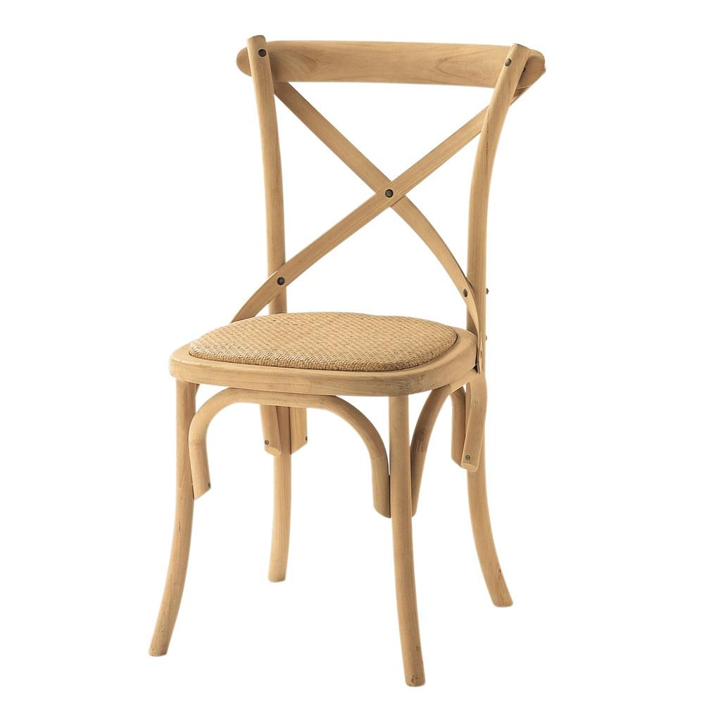 Silla de mimbre y fresno natural tradition maisons du monde for Maison du monde sillas