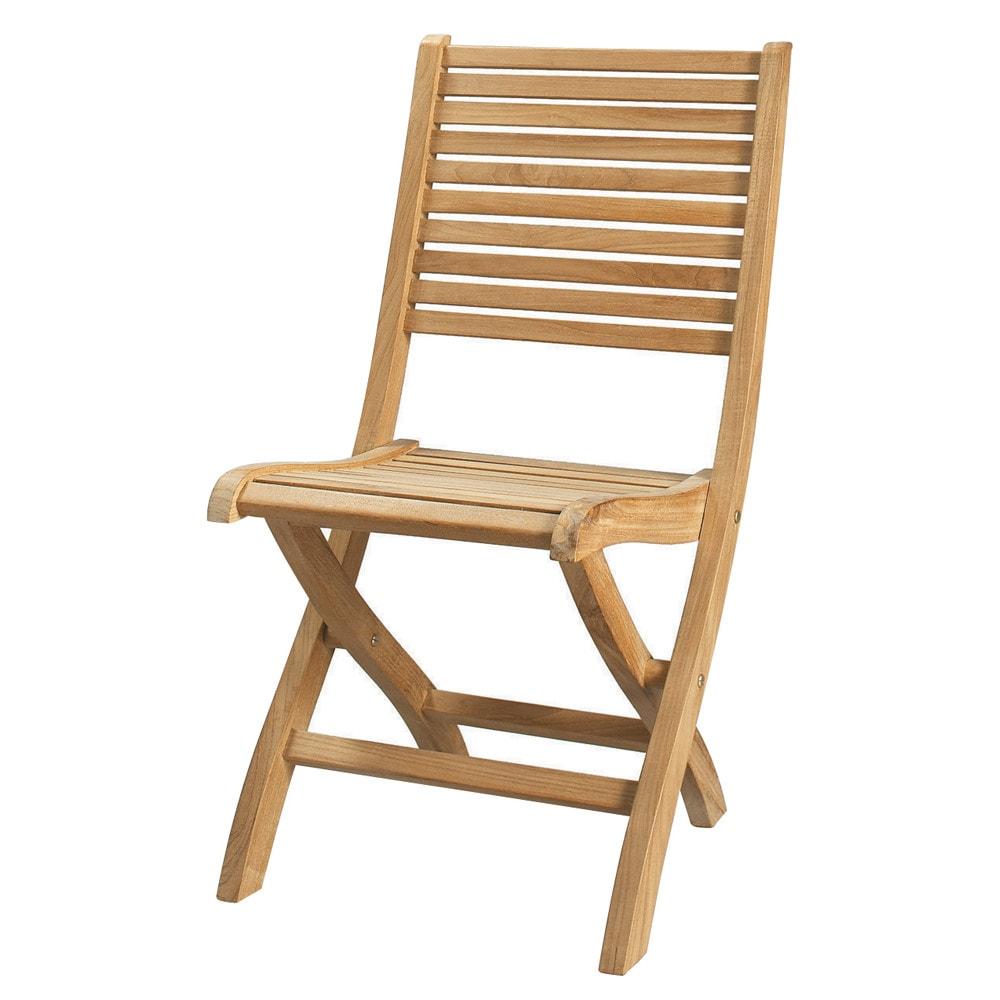 Silla plegable de jard n de teca maciza ol ron maisons for Maison du monde sillas