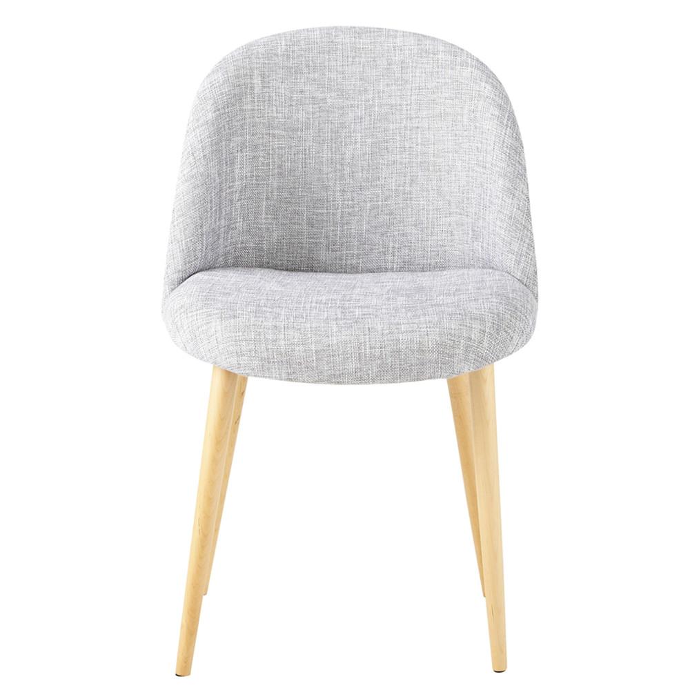 Silla vintage de tela gris claro antiguo mauricette for Maison du monde sillas
