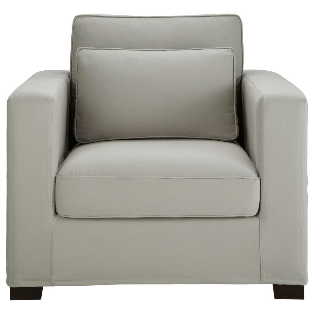 › muebles › Sillones › Sillón de algodón gris claro MILANO