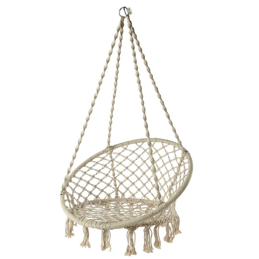 Sill n de jard n colgante de cuerda blanco gabriela for Sillon colgante jardin