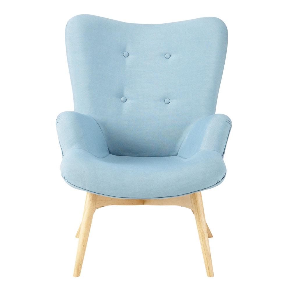 sill n vintage de tela azul iceberg maisons du monde. Black Bedroom Furniture Sets. Home Design Ideas