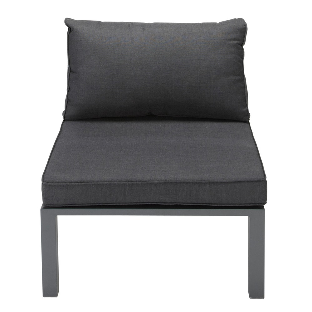 sitzelement f r den garten aus aluminium anthrazit. Black Bedroom Furniture Sets. Home Design Ideas