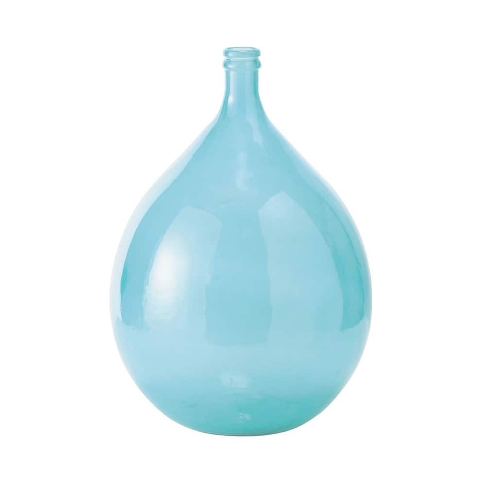skadi glass carboy vase in blue h 56cm maisons du monde. Black Bedroom Furniture Sets. Home Design Ideas
