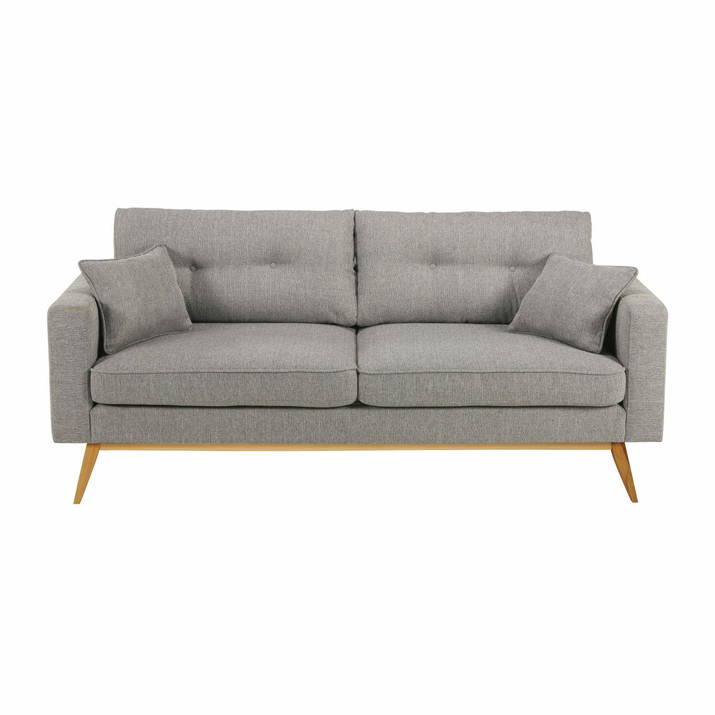 Skandinavisches 3 Sitzer Sofa Hellgrau Brooke Maisons Du Monde