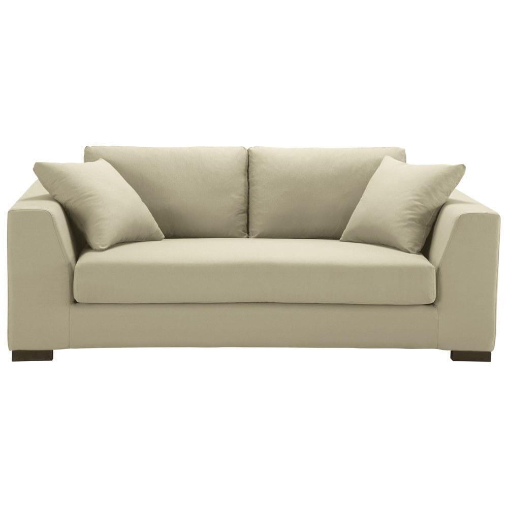 sofa 2 3 sitzer aus baumwolle graubeige terence maisons du monde. Black Bedroom Furniture Sets. Home Design Ideas