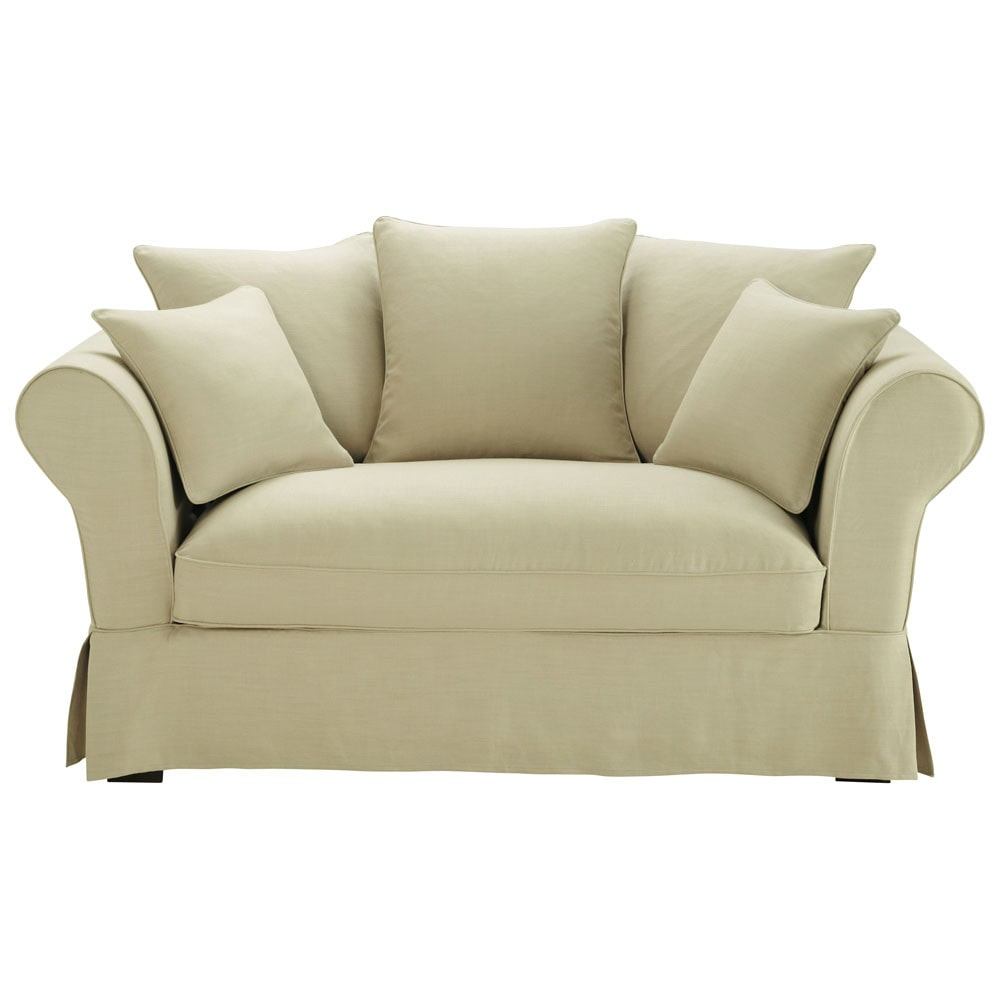 sofa 2 3 sitzer aus leinen beige roma maisons du monde. Black Bedroom Furniture Sets. Home Design Ideas