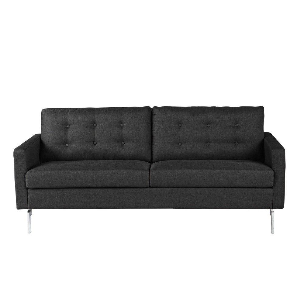 sofa 2 3 sitzer aus stoff anthrazit victor maisons du monde. Black Bedroom Furniture Sets. Home Design Ideas