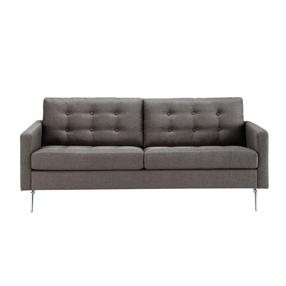Sofa 2 3 Sitzer aus Stoff grau Victor