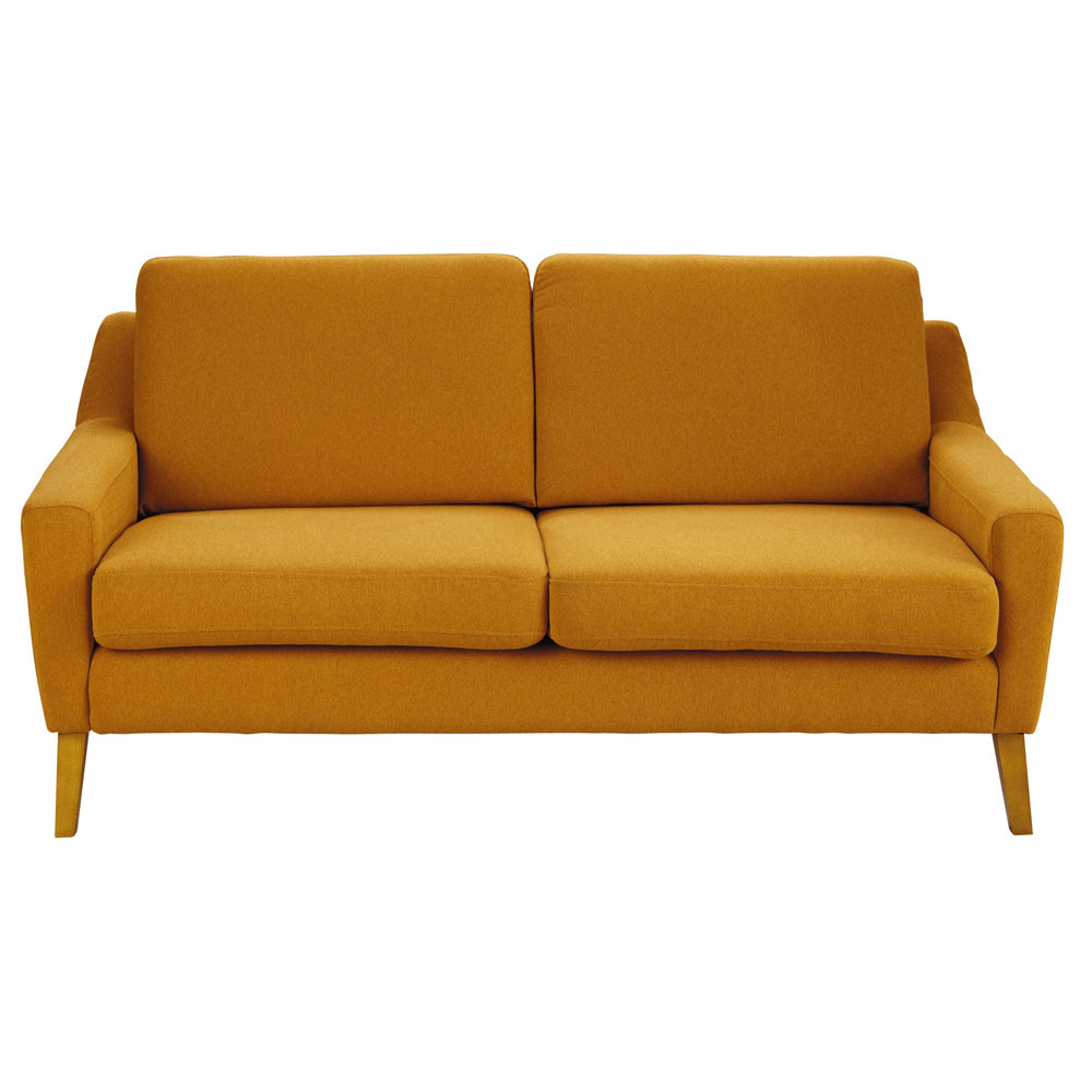 sofa 2 sitzer linara orange mad men mad men maisons du monde. Black Bedroom Furniture Sets. Home Design Ideas