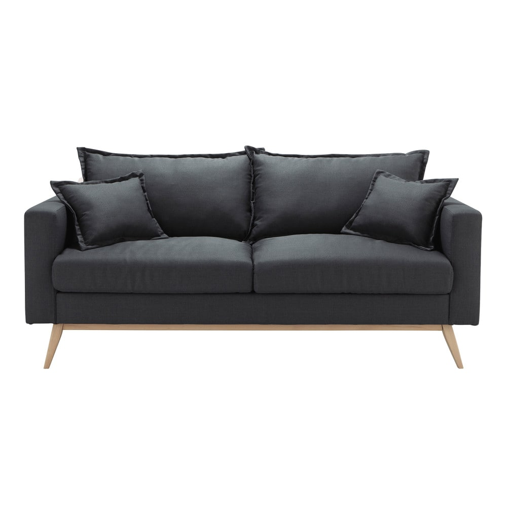 sofa 3 sitzer aus stoff schiefergrau duke maisons du monde. Black Bedroom Furniture Sets. Home Design Ideas