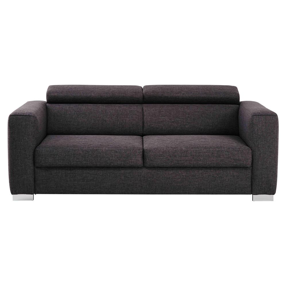 sofa 3 sitzig aus stoff grau meliert jazz maisons du monde. Black Bedroom Furniture Sets. Home Design Ideas