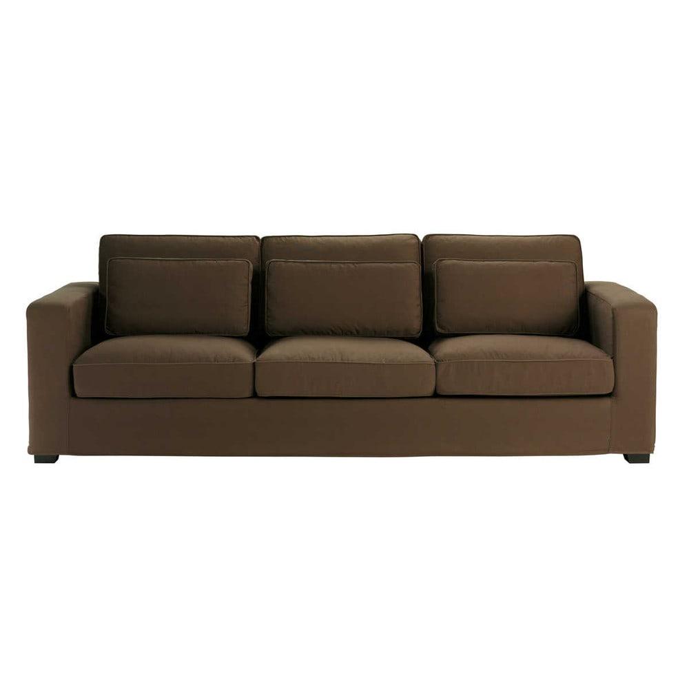 sofa 4 sitzer aus baumwolle schokoladenbraun milano milano maisons du monde. Black Bedroom Furniture Sets. Home Design Ideas