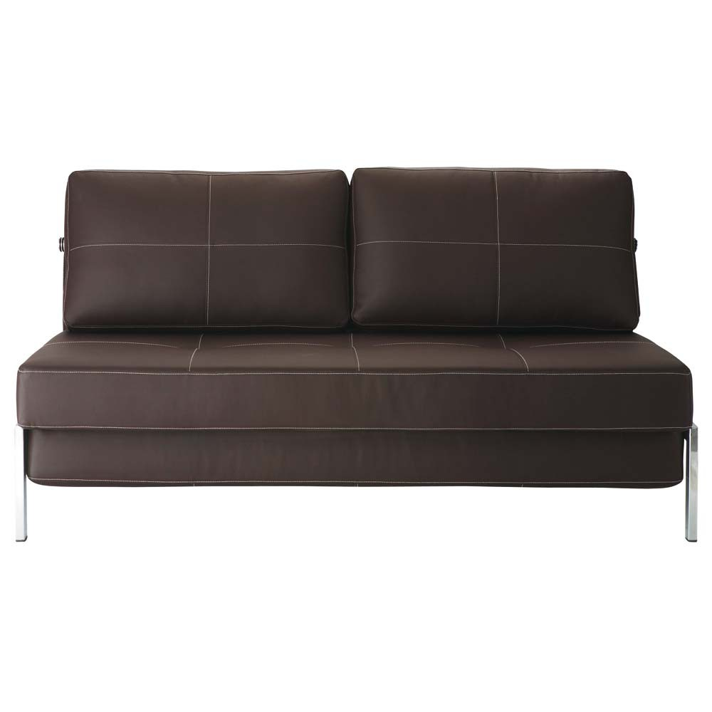 sofa braun 2 sitzer schlafsofa detroit detroit maisons. Black Bedroom Furniture Sets. Home Design Ideas