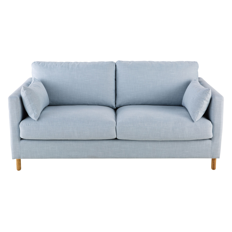 Sofá Cama De 3 Plazas Azul Claro Julian Maisons Du Monde