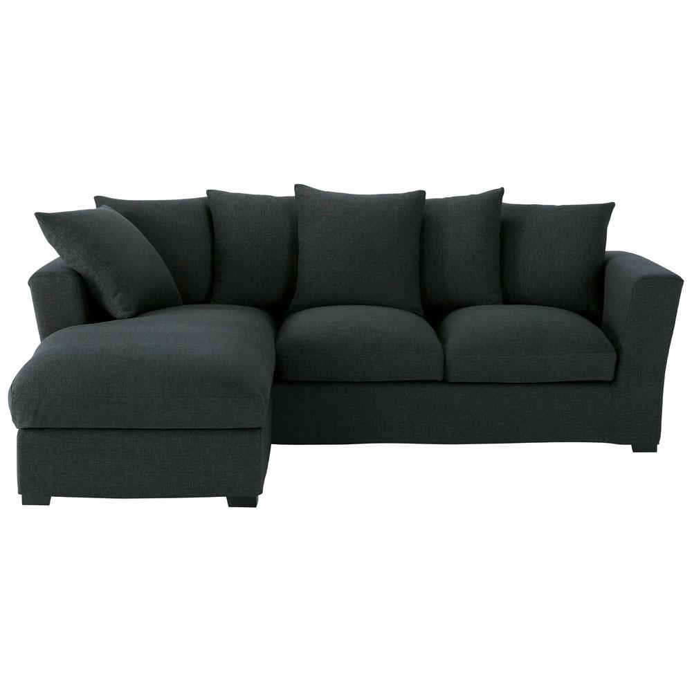 sof cama de esquina 5 plazas m ridienne izquierda antracita bruxelles bruxelles maisons. Black Bedroom Furniture Sets. Home Design Ideas