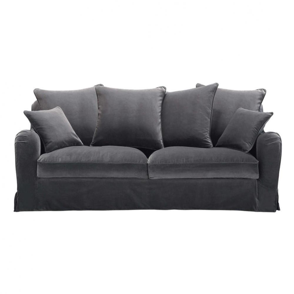 sofa dreisitzer nicht ausziehbar grau bovary bovary maisons du monde. Black Bedroom Furniture Sets. Home Design Ideas