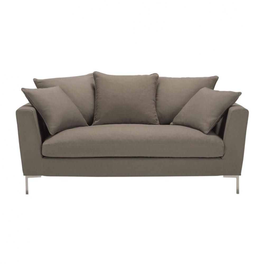 sofa dreisitzer nicht ausziehbar taupe dublin dublin maisons du monde. Black Bedroom Furniture Sets. Home Design Ideas
