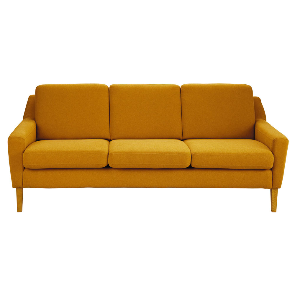Sofa In Orange Linara, Seats 3 - Mad Men Mad Men