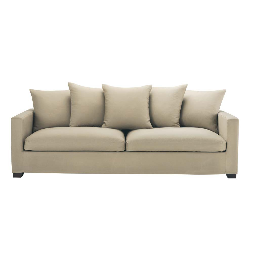 Sofa Leinen 4 5 Sitzer