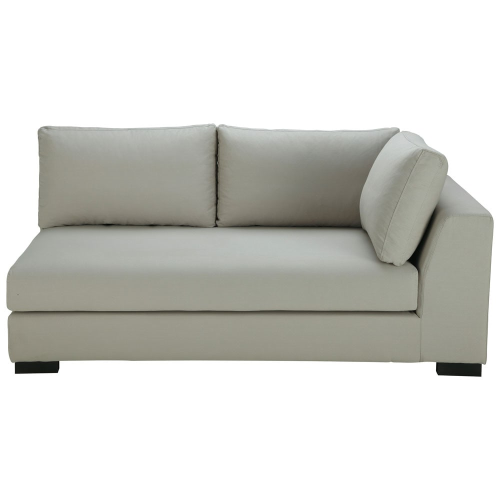 Sof modulable esquinero derecho de algod n gris terence for Sofa esquinero jardin