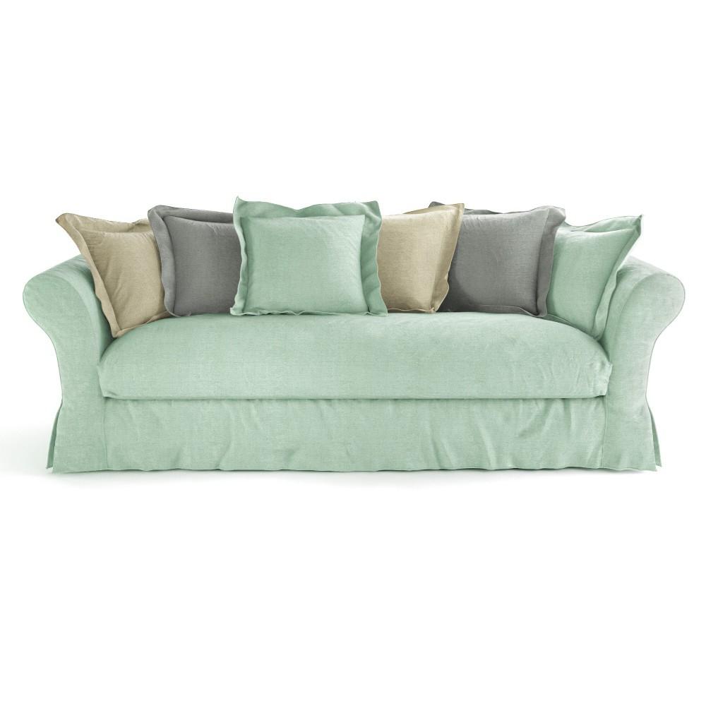 Sofa with frame seats 4 5 cam l on cam l on maisons - Maison du monde sofa ...
