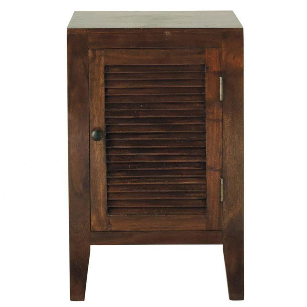 Solid acacia bedside table w 40cm hanoi maisons du monde - Maison du monde table de chevet ...