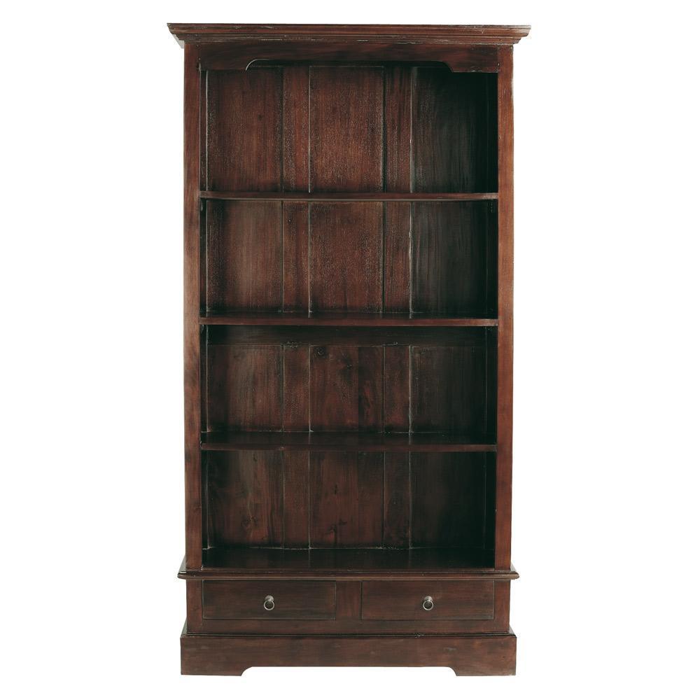 Solid mahogany bookcase w cm cubana maisons du monde