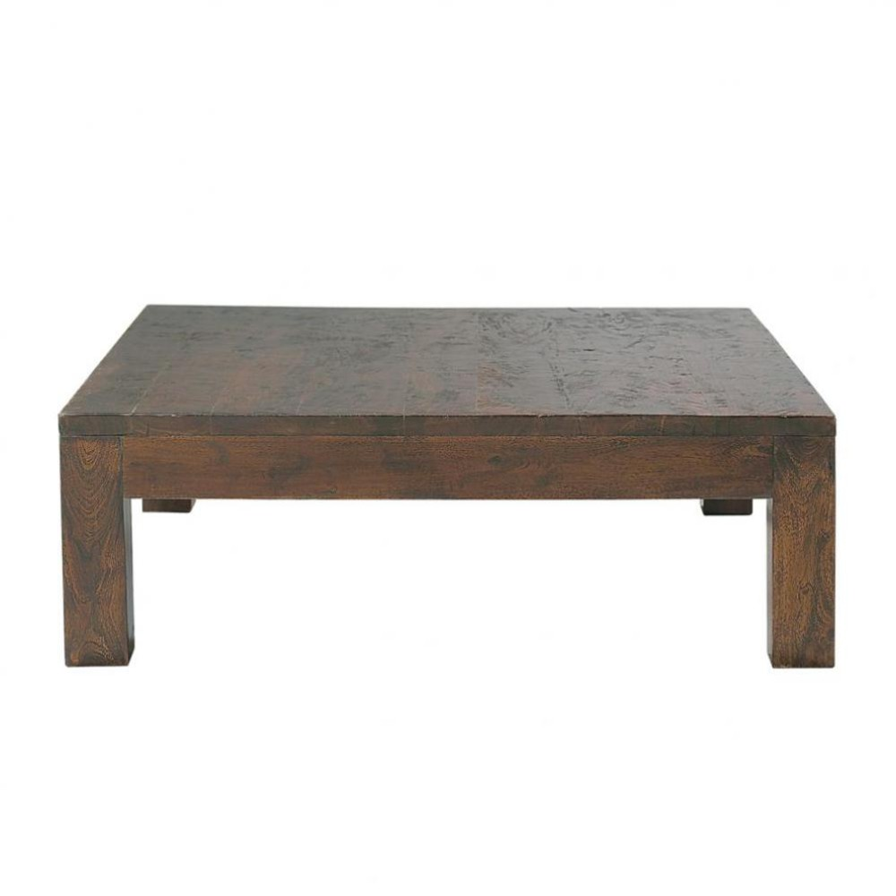 Solid mango wood coffee table w 100cm bengali maisons du for Maison du monde table