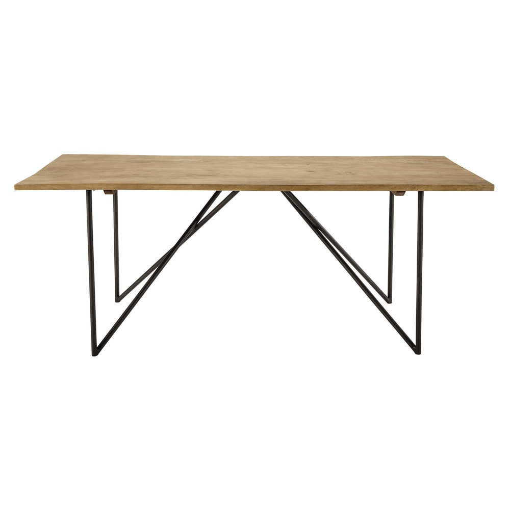 Solid mango wood dining table w 200cm arty maisons du monde for Table stockholm maison du monde