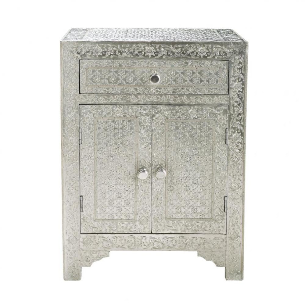 Solid Mango Wood Indian Bedside Table W 45cm Ja Pur