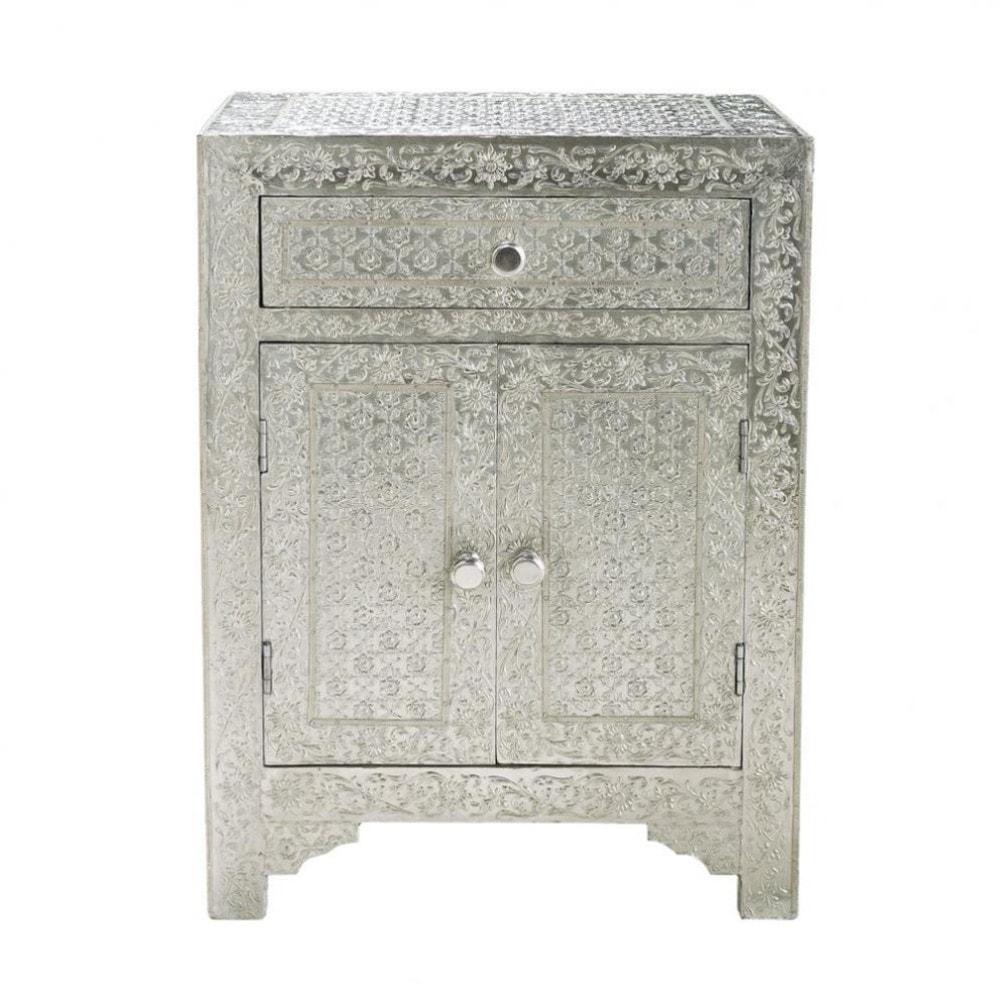 solid mango wood indian bedside table w 45cm ja pur maisons du monde. Black Bedroom Furniture Sets. Home Design Ideas