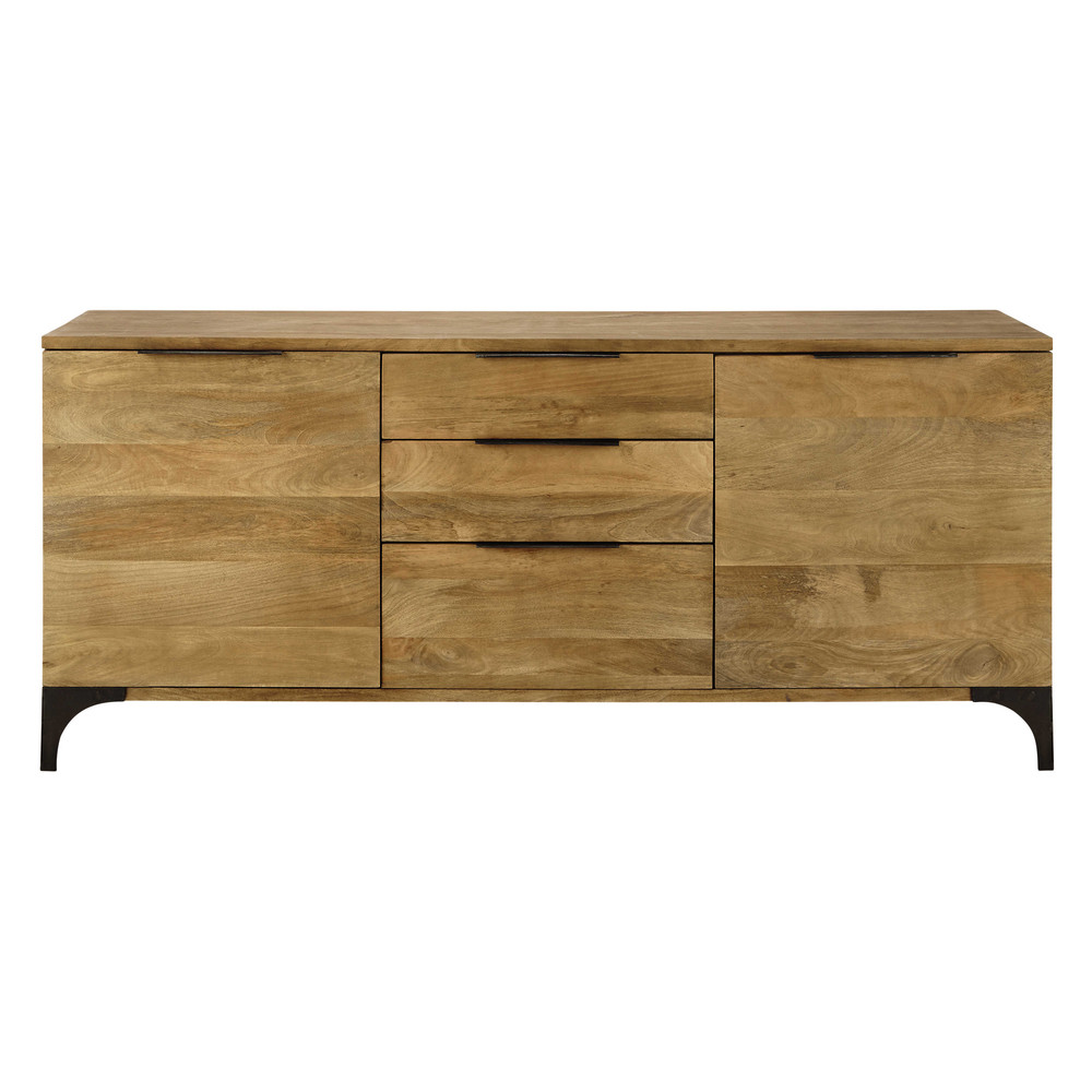 solid mango wood sideboard w 180cm metropolis maisons du monde. Black Bedroom Furniture Sets. Home Design Ideas