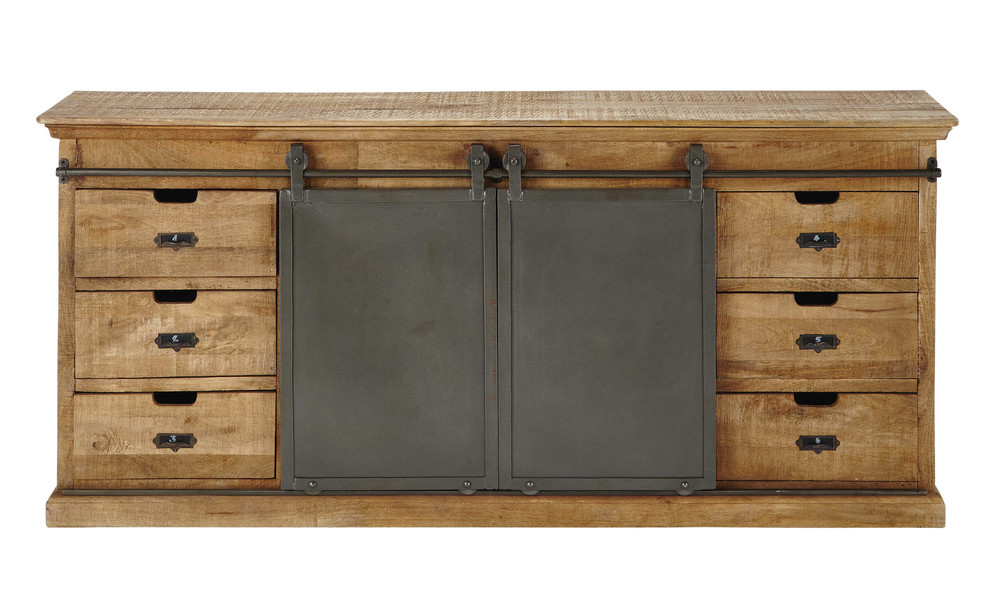 Solid mango wood sideboard w 190cm germain maisons du monde for Maison du monde credenze