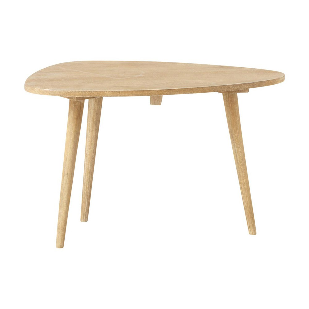 Solid Mango Wood Vintage Coffee Table W 62cm Trocadero Maisons Du Monde