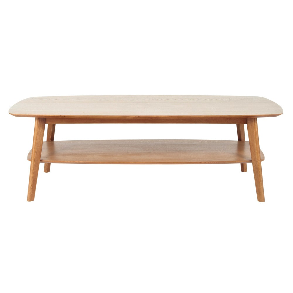 Solid oak coffee table w 130cm portobello maisons du monde - Table basse chene huile ...