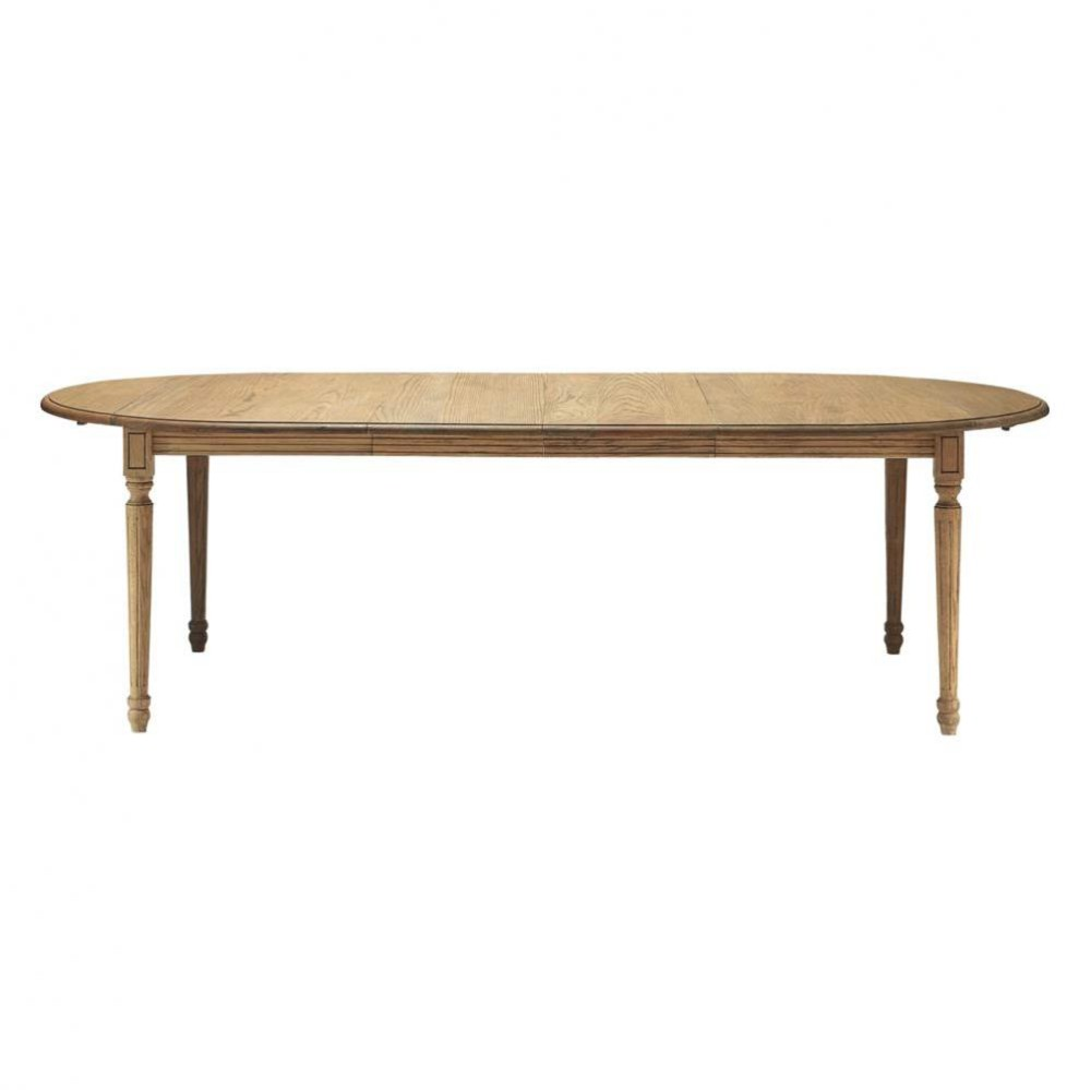 solid oak dining table w 120cm atelier maisons du monde. Black Bedroom Furniture Sets. Home Design Ideas