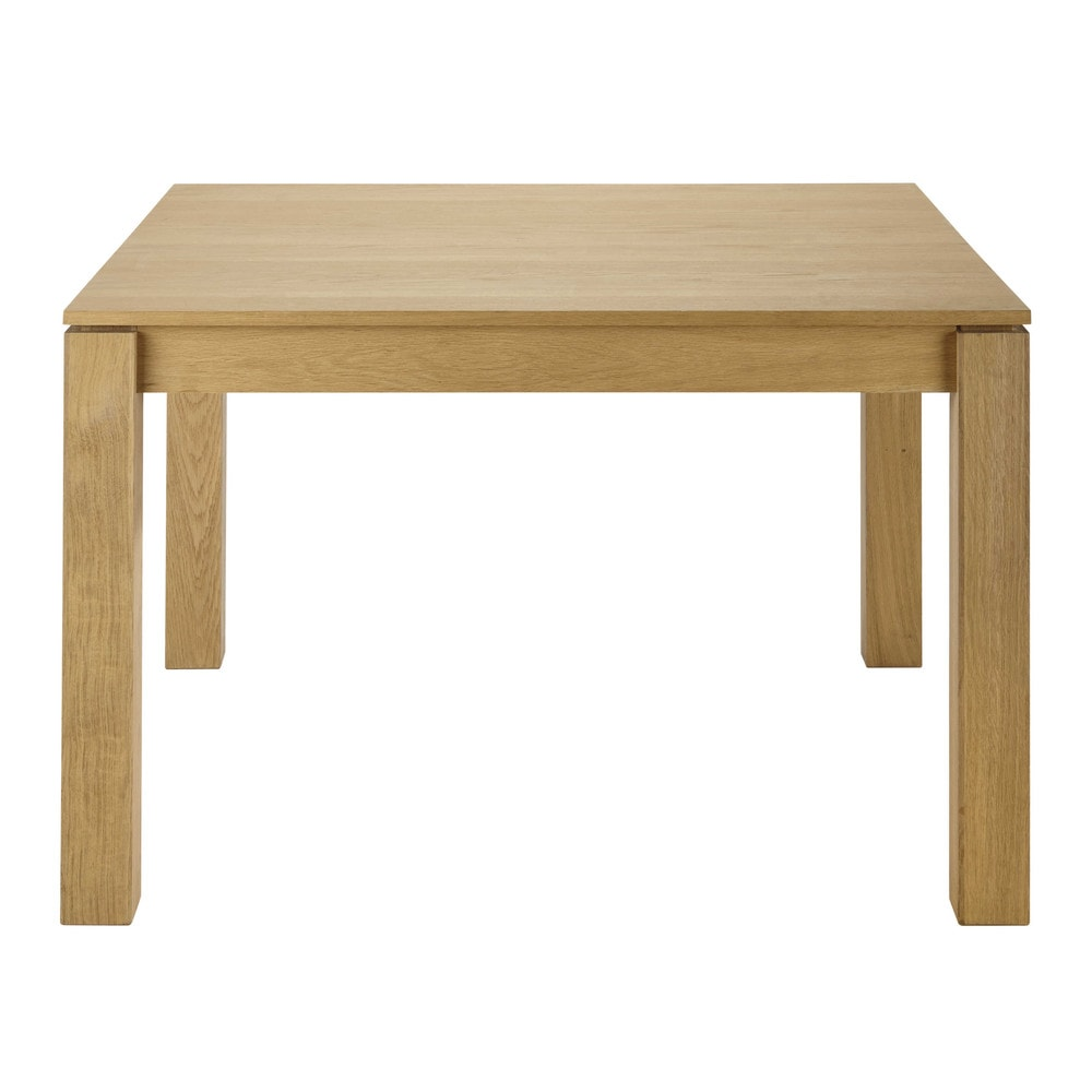 solid oak extending square dining table w 120cm danube