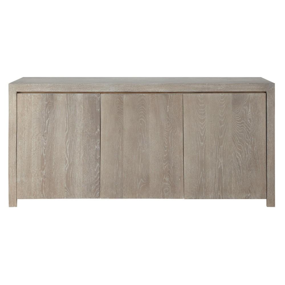 solid oak sideboard w 160cm baltic maisons du monde. Black Bedroom Furniture Sets. Home Design Ideas