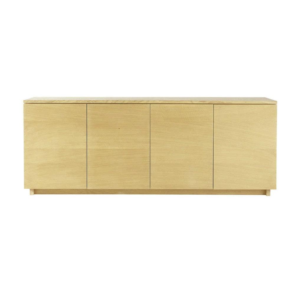 solid oak sideboard w 200cm hambourg maisons du monde. Black Bedroom Furniture Sets. Home Design Ideas