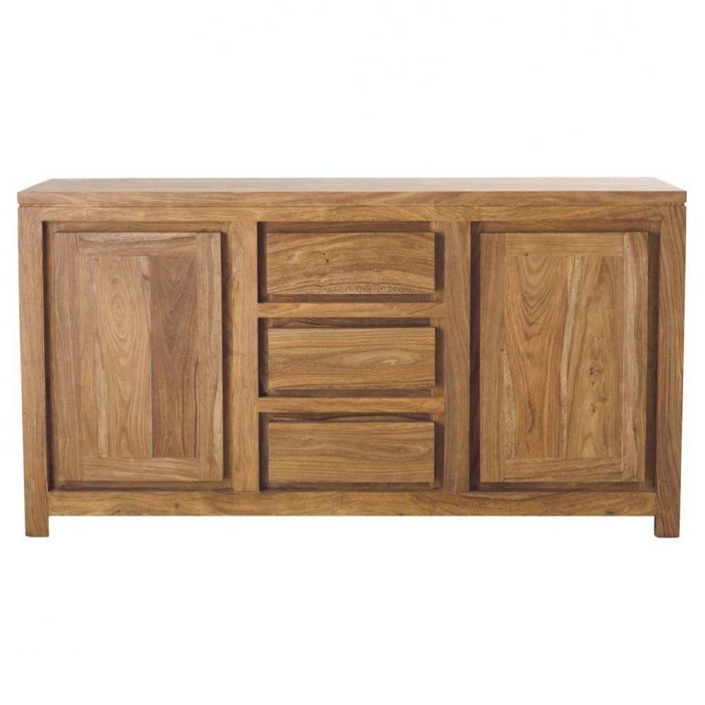 Solid Sheesham Wood 2 Door 3 Drawer Sideboard Stockholm