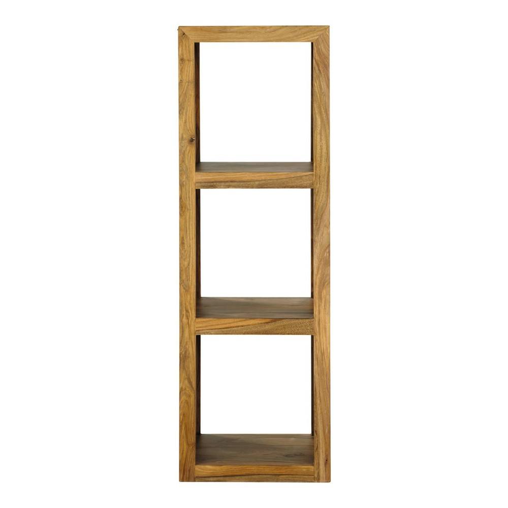 solid sheesham wood 2 shelf tower unit stockholm maisons du monde. Black Bedroom Furniture Sets. Home Design Ideas