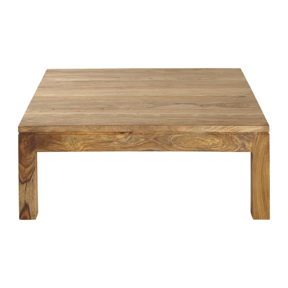 Solid sheesham wood coffee table w 100cm stockholm maisons du monde - Table basse opium carre ...