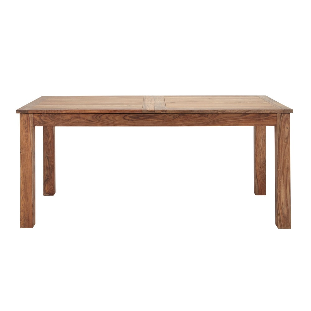 Solid sheesham wood extending dining table w 180cm for Table 180 cm