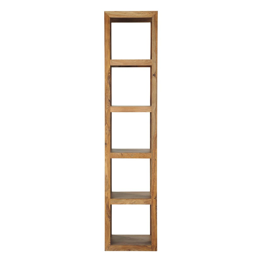solid sheesham wood shelf tower unit stockholm maisons du monde. Black Bedroom Furniture Sets. Home Design Ideas