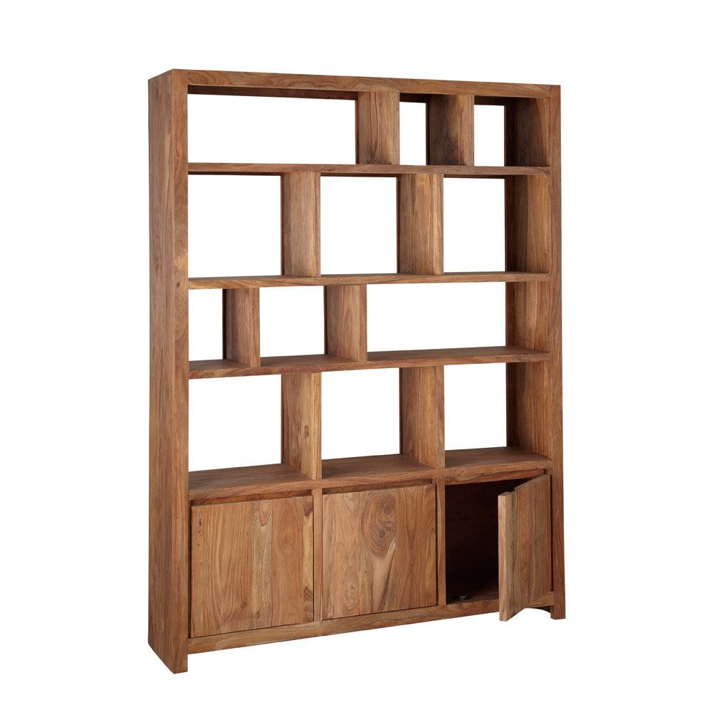 Solid sheesham wood shelf unit w 150cm stockholm maisons - Etagere stockholm maison du monde ...